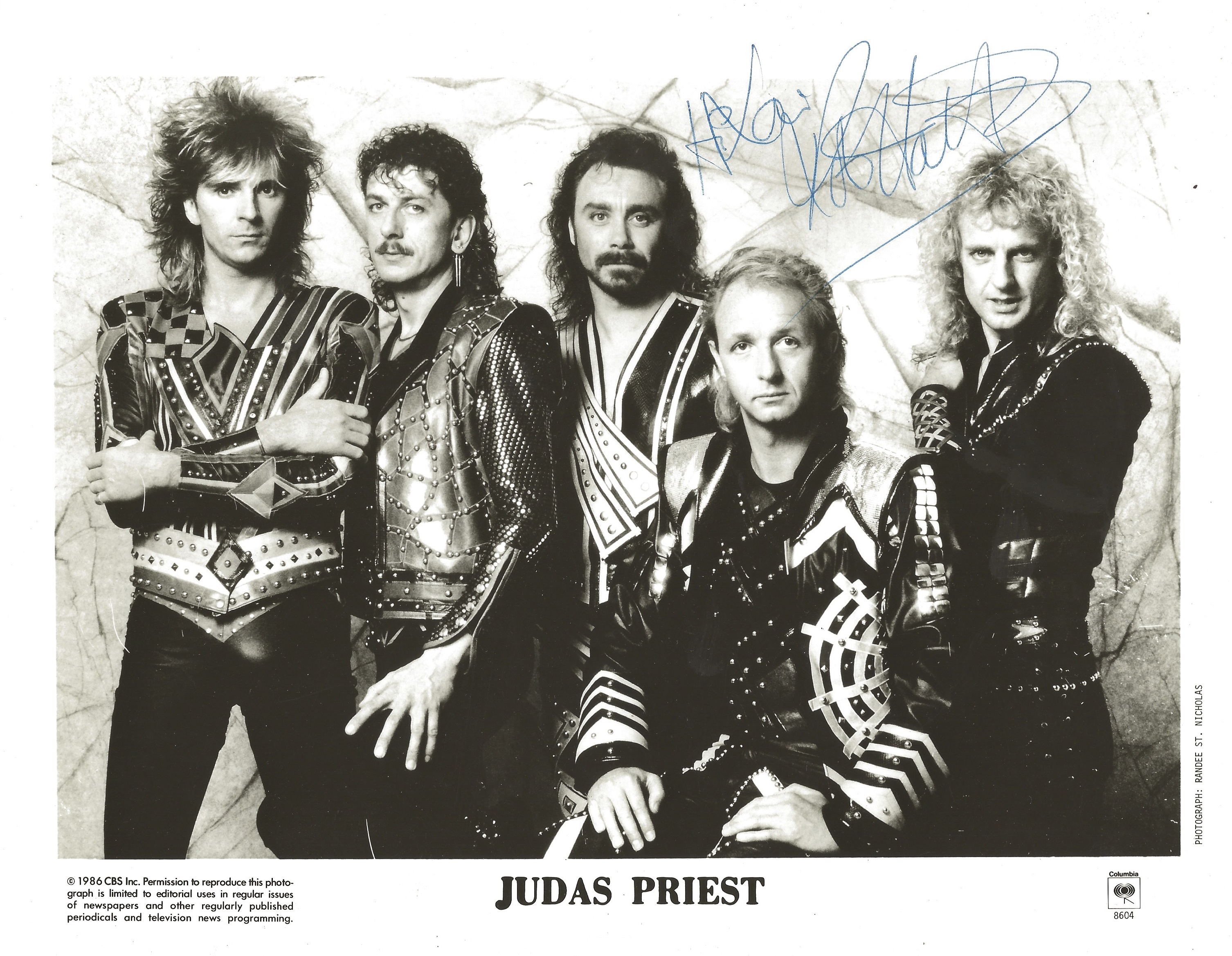 Columbia-Records-rock-band-Judas-Priest-at-a-listening-party-late-80s